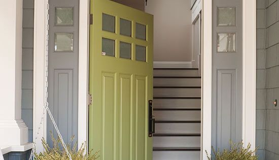 Curb Appeal! Love the style of the door AND the color....