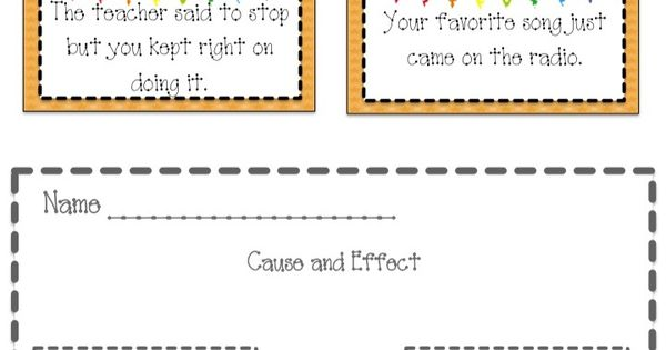 A cause and effect center activity.