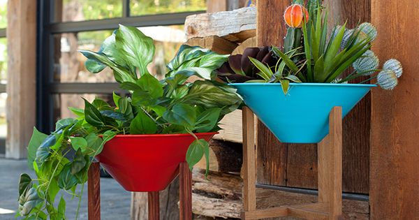 Mid-Century Modern Planters by Steel Life » Sage Outdoor Designs