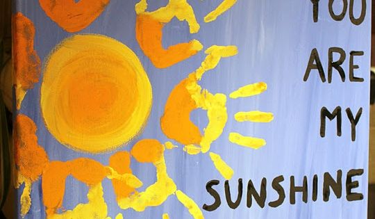Handprint art - You are my sunshine. I will be making this