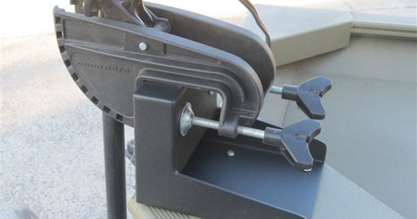 Allows for the mounting of most transom trolling motors to for Mounting a transom mount trolling motor on the bow