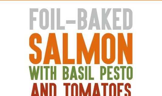 Foil-Baked Salmon Recipe with Basil Pesto and Tomatoes ...