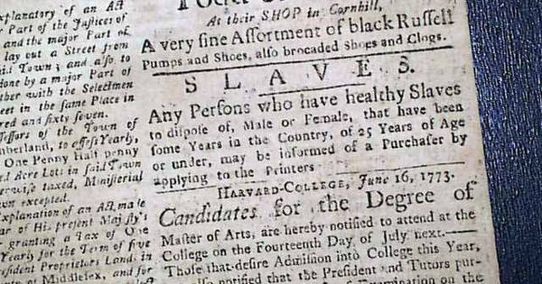 historic newspaper with a slave ad the boston evening post july 5 1773 slave ads related. Black Bedroom Furniture Sets. Home Design Ideas