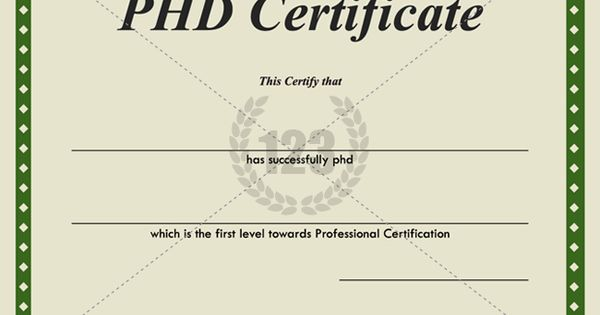 Most Valuable Phd Certificates For Download
