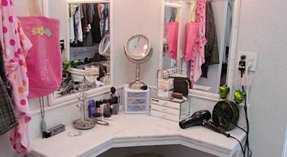 Vanity and dressing room