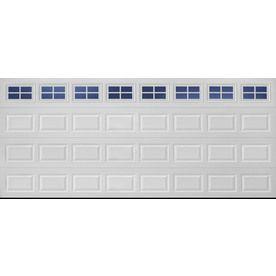 Reliabilt 16 Ft X 7 Ft Short Panel Traditional Garage Door With Stockton Windows White Garage Door Windows Garage Doors Double Garage Door