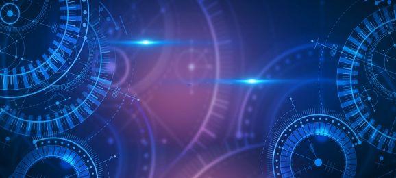 O Senso De Tecnologia Brilha Linhas Em Torno Do Fundo Publicidade Technology Background Planets Light Background Images