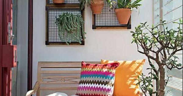 Original decoraci n de balcones peque os mi jardin for Decoracion jardin pequeno reciclado