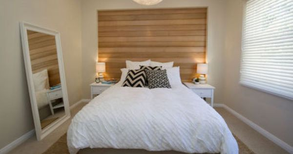 house rules master bedroom carly and leightons house sa phase 2 love this wooden feature wall and neutral tones throughout the room - Feature Wall Bedroom