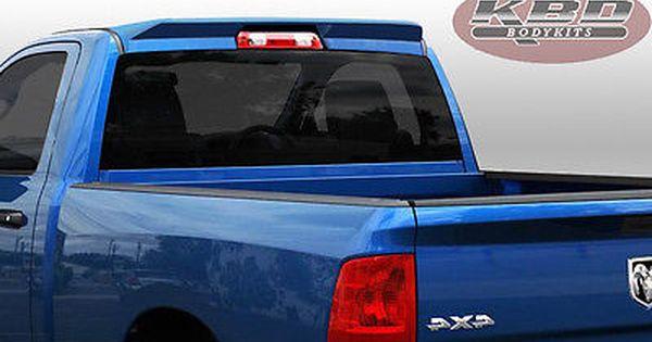 Fit Ram 1500 09 13 Premier Style Kbd Polyurethane Roof Wing Spoiler Body Kit Body Kit Ram Body