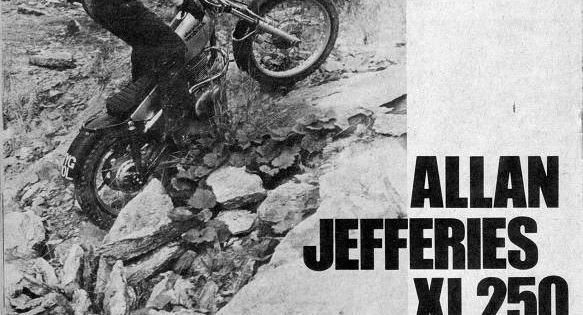 alan jeffries honda xl 250 trial motorcycle trials pinterest honda