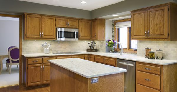Another Example Of Gray Walls With The Lighter Cabinetry