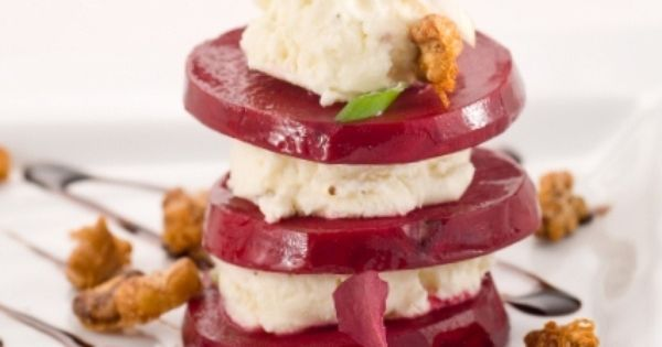 Mascarpone & Layered Beets with Candied Walnuts Recipe ...