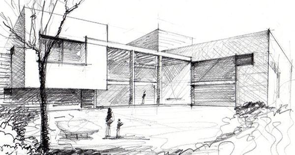 A mano alzada con perspectiva architect pinterest - Alzado arquitectura ...