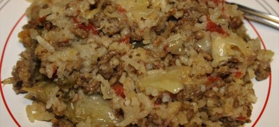 Cabbage Meat And Rice Casserole Rice Cooker Realcajunrecipes Com La Cuisine De Maw Maw Recipe Aroma Rice Cooker Rice Cooker Recipes Rice Casserole