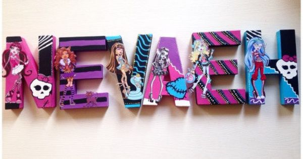 monster high craft ideas high wall letters high by 4986