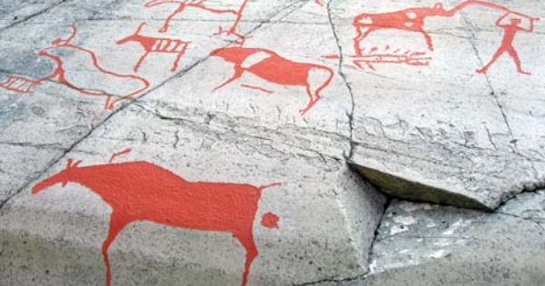 Narrative rock carvings from alta norway that describe