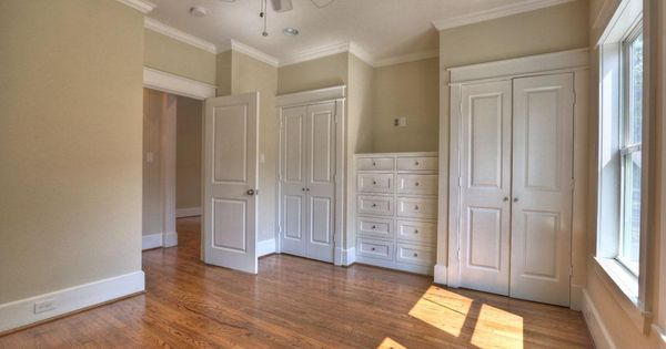 Dresser Between Two Closets With Tv Above For Her Room