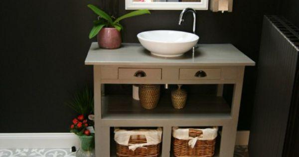 Grijs witte in badkamer met zwarte muur nieuw huis ideetjes pinterest met - Scheiding meubels ...