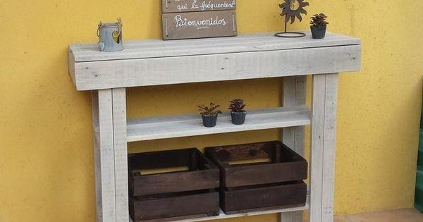 console palettes bois de palette pinterest modulable palette et en bois. Black Bedroom Furniture Sets. Home Design Ideas