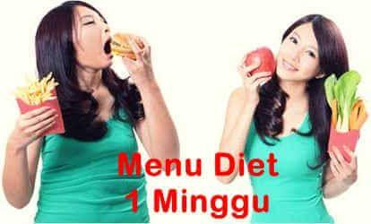 Menu Diet Seminggu Sehat Untuk Menurunkan Berat Badan Kesehatan Kebugaran Tubuh