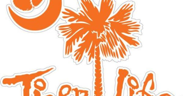 Tree Tiger With Life  Clemson Palmetto | Clemson Decal