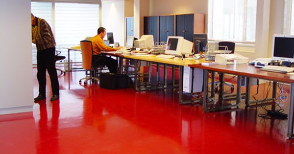 Water Based Epoxy Floor Paint Use On Interlocking Chip Board For Super Cheap But Effective Flooring Epoxy Floor Epoxy Floor Paint Painted Floors