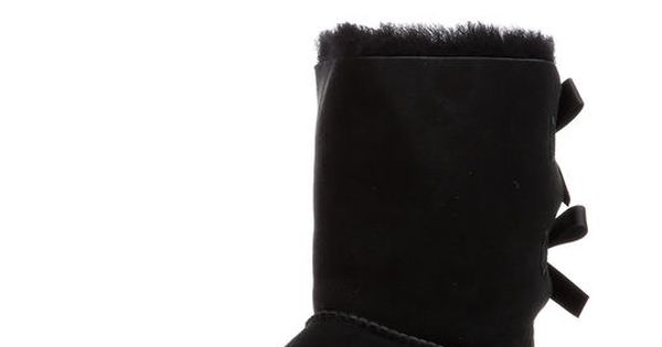 black and red uggs with bows