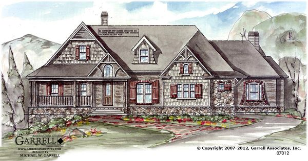 Garrell associates inc big mountain lodge b house plan for Big ranch house plans