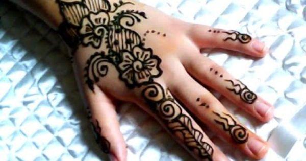 النقش بالحناء Simple Mehndi Designs Mehndi Designs Henna Hand Tattoo