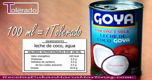 Leche de coco dukan tolerado desde fase crucero 100 ml 1 tolerado en carrefour en la - Alimentos permitidos fase crucero ...