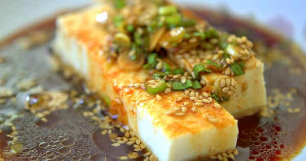 Chilled tofu with Soy Sauce Dressing Recipe