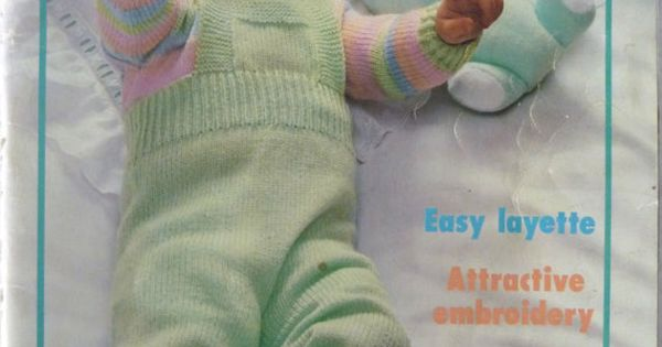Phildar Baby Knitting Pattern Books : Phildar Knitting & Crochet Pattern Book - Baby Layette - Knitwear - Embro...