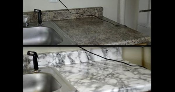 Diy Kitchen Countertop Makeover With Contact Paper Hd Youtube Diy Kitchen Furniture Vinyl Countertops Countertop Makeover