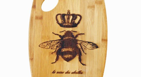 Queen Bee Cutting Board French Country Home Decor