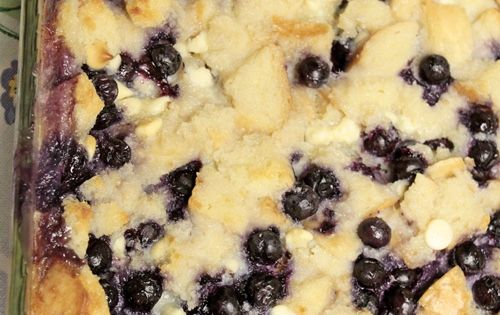 Over The Top Blueberry Bread Pudding - Southern Hospitality