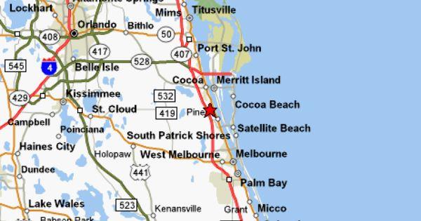 map of brevard county merritt island cocoa beach melbourne to