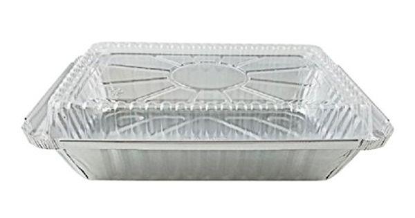 2 Lb Oblong Aluminum Take Out Carry Pan W Plastic Dome Lid 50 Sets Oblong Aluminum Urban Interiors