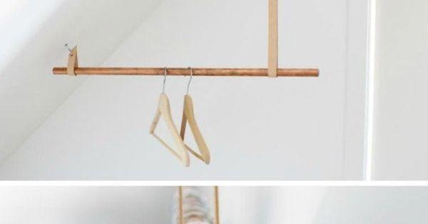 Mini dressing penderie sous le toit combles - Portant vetement suspendu ...