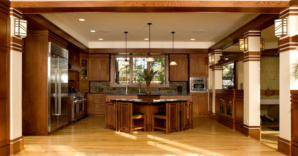 Frank lloyd wright craftsman style homes google search for Kitchen design 60035