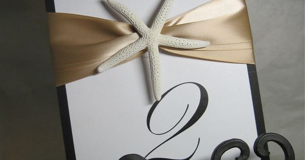 beach themed table number ideas - Google Search