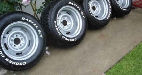 Chevy Truck Wheels >> chevrolet rally wheels with cooper cobra gt tires | 1956 Chevy Bel Air | Pinterest | Chevrolet ...