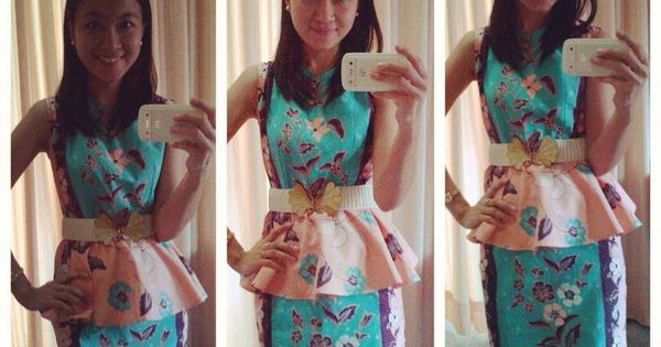 sweet batik , kanaya peplum dress we love pic courtesy by : Inke ...