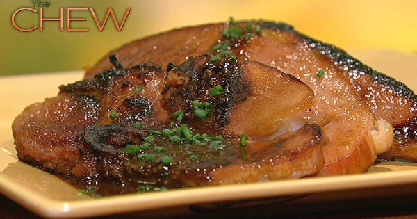 the chew | Recipe | Michael Symon's Holiday Ham - Mustard, white