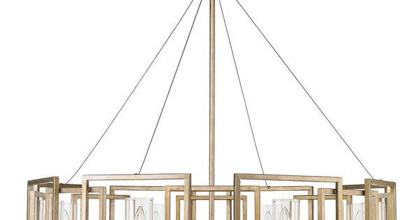 Golden Lighting Marco 8 Light White Gold Chandelier with Clear Glass Shade 6068 8 WG The Home Depot