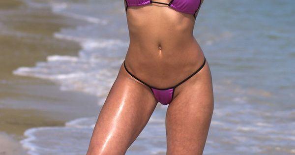 Purple Thong Bikini 115
