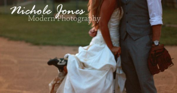 trash the dress softball!!! Cure idea