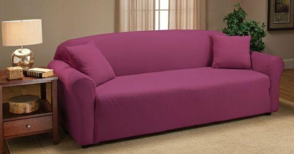stretch husse sofa rosa at home diys pinterest sofas. Black Bedroom Furniture Sets. Home Design Ideas