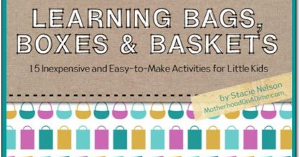 Busy Bag Ideas for Preschoolers: Free eBook