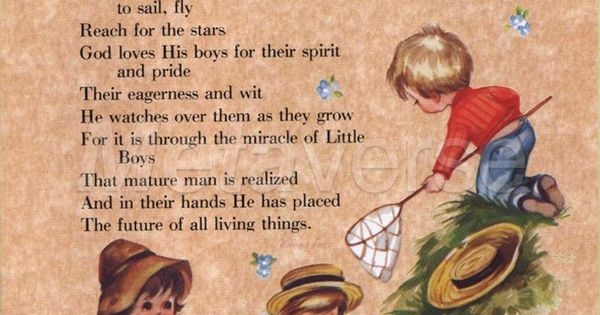 A Cute Inspirational Quote About Little Boys I Have This